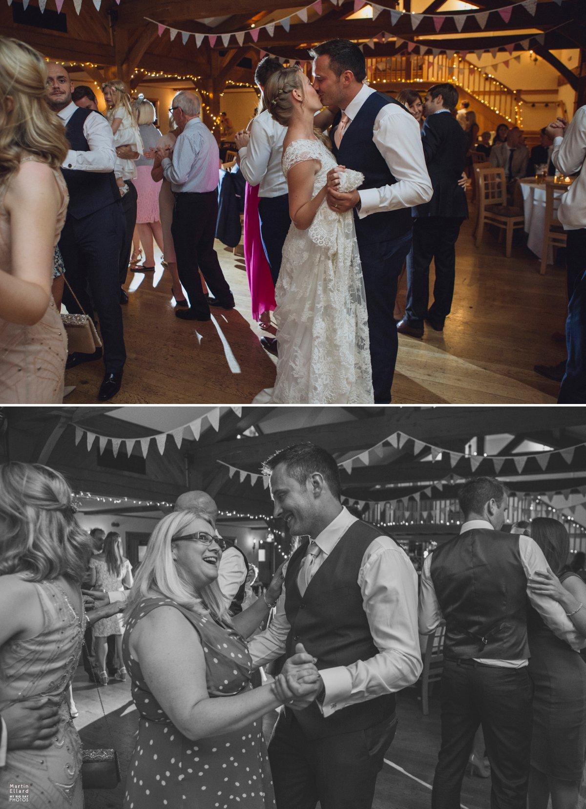 wedding guests dancing Gower