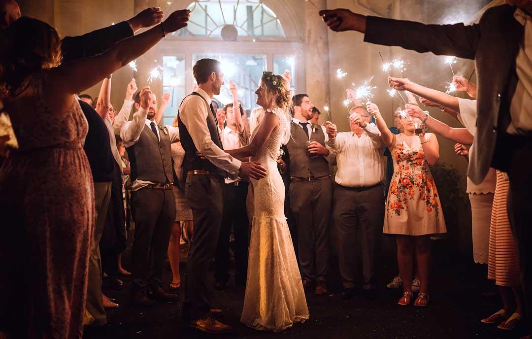 Swansea wedding photographer South Wales weddings Martin Ellard, My Big Day, wedding sparklers, sparkler exit, Luxury bride, boho brides, bohemian bride, rustic groom, rustic wedding, country bride, outdoor life, outdoor wedding, Welsh coast weddings, natural, unposed, alternative, barn, tattooed bride,