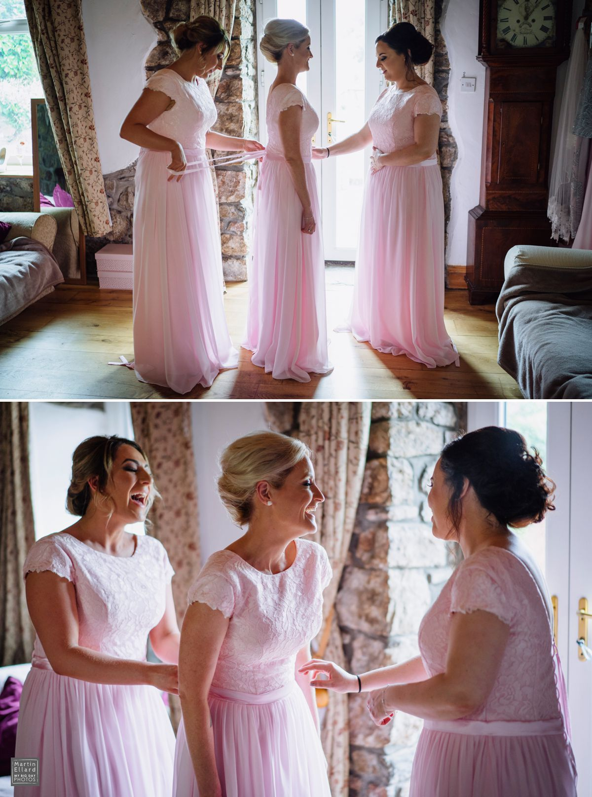 choosing bridesmaid dresses in pink